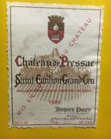 6995 -  Château De Pressac 1986 Saint-Emilion - Bordeaux