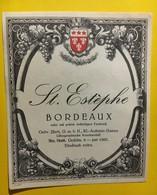 6996 -  St.Estèphe Modèle D'imprimerie Voir Description - Bordeaux