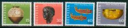 Schweiz  1973  Pro Patria - Archäologische Funde II  (4 ** (MNH) Kpl. )  Mi: 996-99 (3,50 EUR) - Suisse