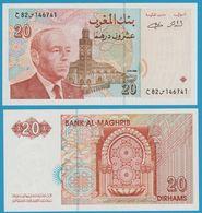 MAROC 20 Dirhams 1987  Roi Hassan II1416 / 1996 P# 67e - Maroc