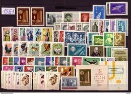 BULGARIA \ BULGARIE - 1961 - Anne Complete ** - Yvert 993 / 1039 + Dent. Et PA 78 / 79 Non Dent. + Bl 7,8 - Komplette Jahrgänge