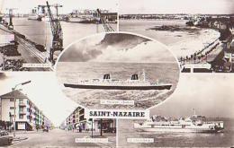 """Paquebot        528 -9     Saint Nazaire ( 5 Vues ) Dont Le Paquebot """" France """" , Avenue De La République , .. ( 44 ? ). - Steamers"""