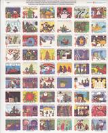 54 VIGNETTES USA - Christmas Seal Greetings From The Children Of America 1980 American Lung Association - Ganze Bögen