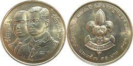 "Thaïlande - Rama IX (1946-2016) - 10 Bath 2534 (1991) 80° Anniversaire Des ""Thai Boy Scouts"" - Thaïlande"