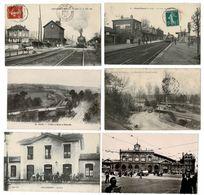46 CP TRAINS à CHEVRIERES_St-MARD_POIX.Sans Train CHAINTREAUVILLE_COULOMMIERS_LILLE+Faïencerie,Révolution ChampagneN°033 - Postcards