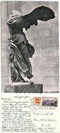 France 1953 RPPC Victoire De Samothrace, Musée Du Louvre, Paris To U.S. - Sculpturen