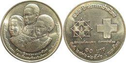 Thaïlande - Rama IX (1946-2016) - 10 Bath 2536 (1993) Centenaire De La Croix Rouge Thaïlandaise - Thailand