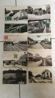 Très Beau Lot De 47 CPA Scannées Thème Ferroviaire Gare / Train  / Locomotive - Postcards