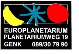 Sticker Autocollant Euro Planetarium Genk Reclame - Stickers