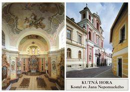 1 AK Tschechien * Kirche Des Heiligen Johannes Von Nepomuk In Kutná Hora - 1995 Ist Die Altstadt UNESCO Weltkulturerbe - Tschechische Republik