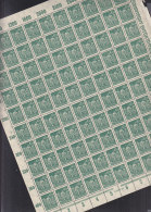 INFLA DR 244 A, Vollständiger Bogen (100 Marken), Postfrisch **, Plattennummer 4 - Deutschland