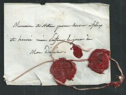 Enveloppe Testamentaire Avec Cachets De Cire - Marcophilie (Lettres)