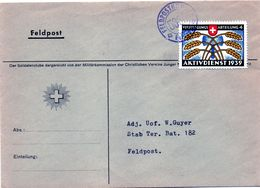 B - 1939 Svizzera - Feldpost - Annullamenti