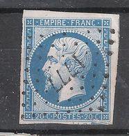 Empire N° 14 B Obl Pc 1777 De LOURDES , Hautes Pyrénées , Belle Frappe, 2 VOISINS ,TB - 1853-1860 Napoléon III