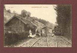 CHAMOUILLEY (52) - LA GARE - TRAIN A QUAI - Francia