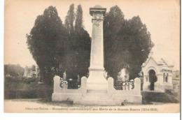 VAUX SUR SEINE    Monument Aux Morts De La Guerre De 1914 1918 - Other Municipalities