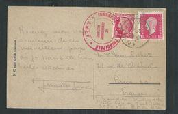 CP Oblitération Poste Aux Armées Et Cachet Le Commissaire Militaire Innsbruck Gare Principale 10/09/1946 - Marcofilie (Brieven)
