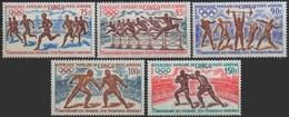 //// JO 1972 - Congo Y. A 129 / A 133** - M. 318 / 322** - Ete 1972: Munich