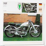 Fiche Technique MOTO Allemagne 1935 DKW 250 SS - Motos