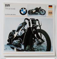 Fiche Technique MOTO Allemagne 1935 BMW 750 K Des Records - Motos