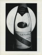 Vieux Papiers - Publicite Noir Et Blanc De 1975 - G.H.Mumm Et Cie - Champagne - Pubblicitari