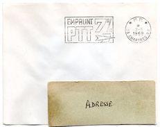 EURE Et LOIR - Dépt N° 28 = CHARTRES RP 1969 = FLAMME PP SUPERBE = SECAP  ' EMPRUNT 7% PTT ' - Postmark Collection (Covers)