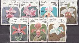 Laos. 1987. Orchids. Michel. 1018-24. MNH.24795 - Orchids