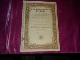 établissements M. BRUN (1939) Sainte étienne,loire - Acciones & Títulos