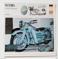 Fiche Technique MOTO Allemagne 1937 VICTORIA 500 KR 9 Fahrmeister - Motos