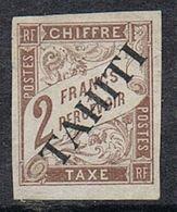 TAHITI TAXE N°12 NSG - Tahiti (1882-1915)