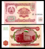 Tajikistan 10 Rubles 1994 UNC - Turkmenistán