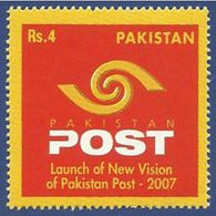 PAKISTAN 2007, Launch Of New Vision Of Pakistan Post, New Logo, 1v MNH - Pakistan