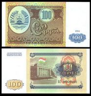 Tajikistan 100 Rubles 1994 UNC - Turkmenistan