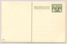 Nederland - 1938 - 2+2 Cent Opdruk Op 3+3 Cent, Briefkaart G245, 1 Afzenderlijn - Ongebruikt - Postal Stationery