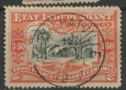 27    3,50F   Ø Coquihatville    Etat Indépendant   Un Joli Cachet Central Du 12 MAI  Cote 190,-E - Congo Belge