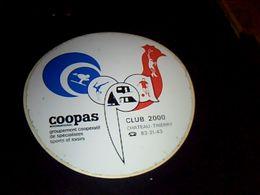 Autocollant  Publicite Cooperative Articles De Sport- Loisirs  COOPAS Cl Ub 2000 A Chatraurhierry - Stickers