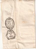 URUGUAY : PAPIER AVEC EMPREINTE A SEC . FISCALE . DE 2 REALES . 1855 . - Uruguay