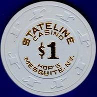 $1 Casino Chip. Stateline, Mesquite, NV. 1982. K94. - Casino
