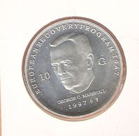 NEDERLAND 10 GULDEN 1997 ZILVER UNC MARSCHALL - [ 8] Gold And Silver Coins