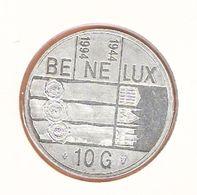 NEDERLAND 10 GULDEN 1994 ZILVER UNC BENELUX 1944/1994 - [ 8] Monete D'Oro E D'Argento