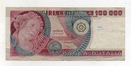"""Italia - Banconota Da Lire 100.000 """" Botticelli """" - Decreto 20.06.1978 - (FDC8437) - [ 2] 1946-… : Républic"""