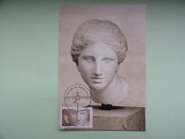 CARTE MAXIMUM CARD TETE D'APHRODITE ANTIQUITE GRECQUE FRANCE - Mythologie