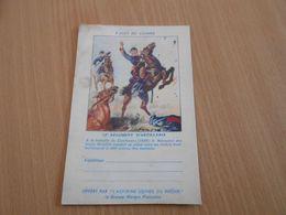 6229 - Carte De Franchise Militaire, Pages De Gloires, Aspirine Du Rhône, 12eme Régiment D'Artillerie - Marcophilie (Lettres)