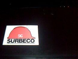 "Autocollant  Publicite  Agence Interim  Batiment Tp ""SURBECO"" - Stickers"