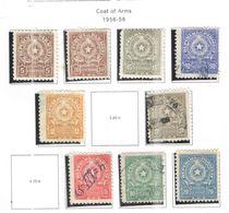 Paraguay PO+PA 1956/58 Arms  Scott.498/501+503+505/507+ Nuovi E Usati See Scans - Paraguay