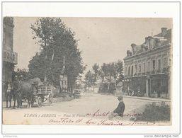 étang Sur Arroux Place Saint Pierre Avec Attelage Cpa Bon Etat - France