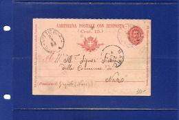##(DAN182)-31-3-1903-Vittoria(Ragusa)-cartolina Postale Con Risposta Cent.7,5 Mill.902 Per Naro Girgenti-Agrigento - Ganzsachen
