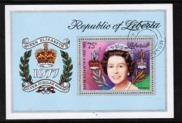 LIBERIA  Scott # C 218 VF USED Souvenir Sheet SS-26 - Liberia