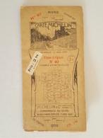 1921 - Carte Michelin - Nimes - Avignon - Bibendum - Cartes Routières