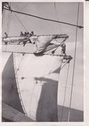 CHARLIE UNDOING THE CLEW LINE TOPSAIL PASSAT +- 21* 15 CM  REAL PHOTOGRAPH BOAT BARCO  BOAT Voilier  Velero  Sailboat - Barche